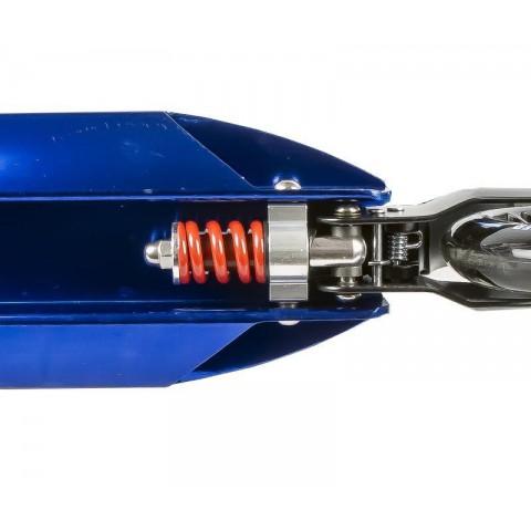 Самокат MaxCity Braker синий с двумя амортизаторами