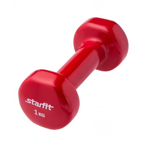 Гантель виниловая StarFit DB-101 1 кг красная