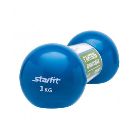 Гантель виниловая StarFit DB-102 1 кг синяя