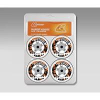 Колеса для роликовых коньков СК стандарт (прозрачные), PU 80 mm, 82 A, 4 штуки