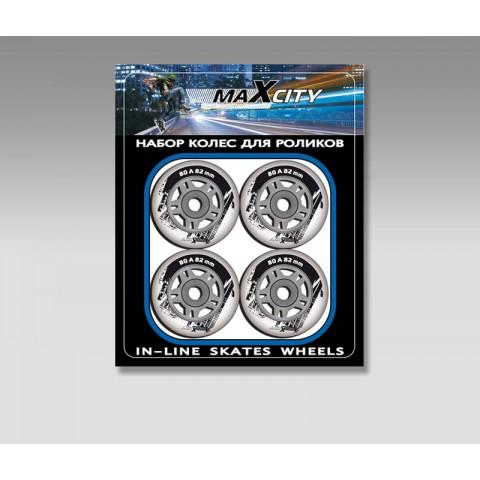 Колеса для роликовых коньков MAXCITY PU 76 mm, 4 штуки
