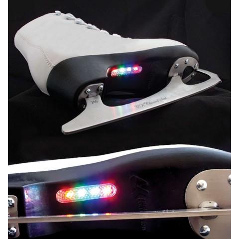 Светящиеся фигурные коньки СК Paris Lux Fur (взрослые)