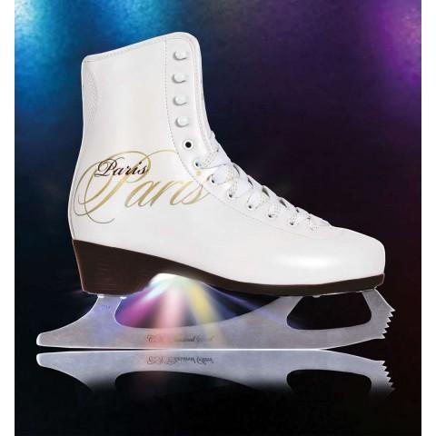 Светящиеся фигурные коньки СК Paris Lux Tricot (взрослые)