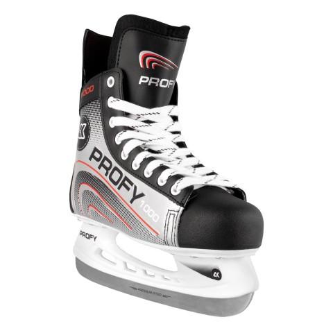 Хоккейные коньки СК PROFY LUX 1000 красный