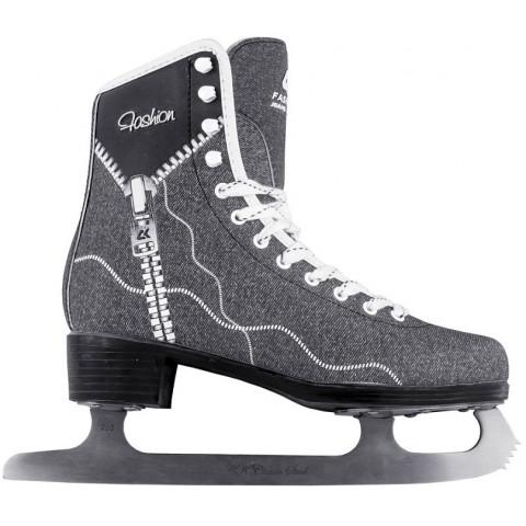 Фигурные коньки СК (Спортивная коллекция) Fashion Jeans Black (взрослые)