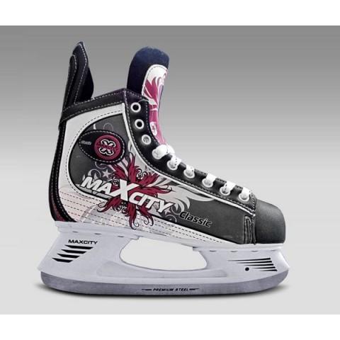 Хоккейные коньки MAXCITY CLASSIC bordo