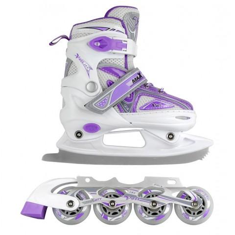 Коньки и ролики 2 в 1 MaxCity Volt Ice violet