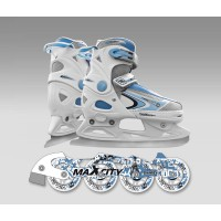 Детские коньки раздвижные MaxCity Snipe Girl Combo