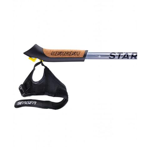 Палки для скандинавской ходьбы Berger Starfall 77-135 см серый