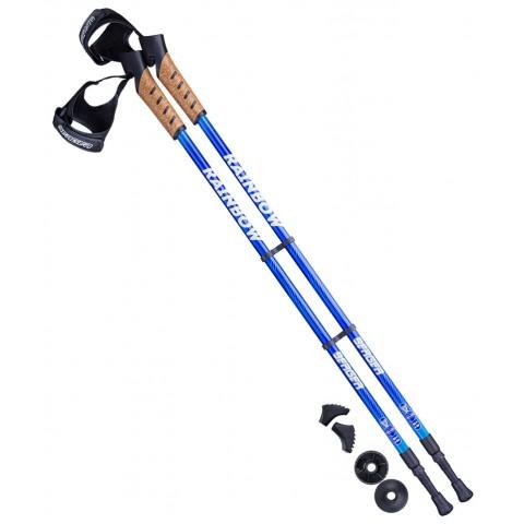 Палки для скандинавской ходьбы Berger Rainbow 77-135 см синий