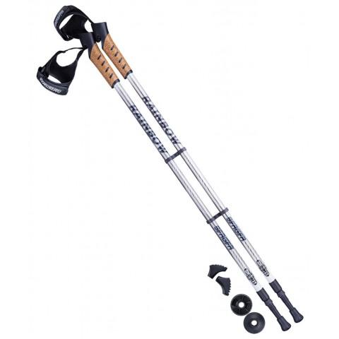 Палки для скандинавской ходьбы Berger Rainbow 77-135 см серый/белый