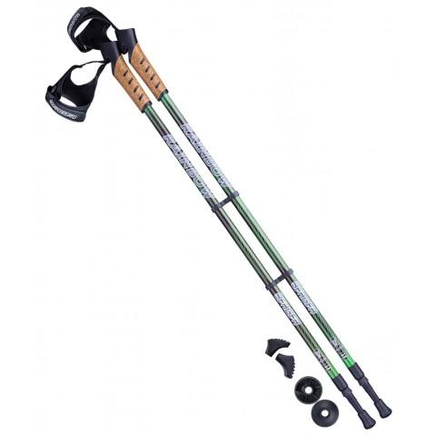 Палки для скандинавской ходьбы Berger Rainbow 77-135 см зелёный