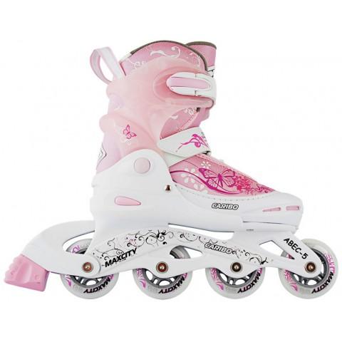 Роликовые коньки детские раздвижные MAXCITY Caribo combo girl