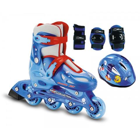 Роликовые коньки детские раздвижные СК Combo Jet blue