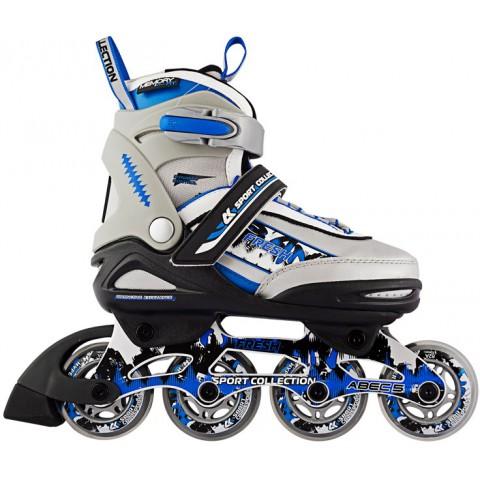 Роликовые коньки детские раздвижные СК Fresh blue