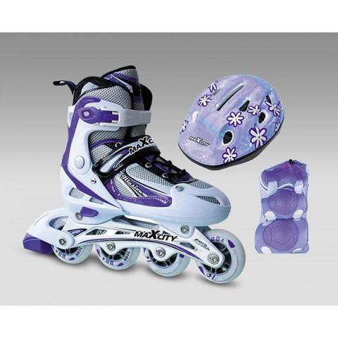 Роликовые коньки детские (раздвижные) MAXCITY ILLUSION combo violet