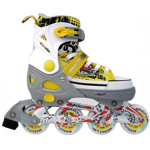 Роликовые коньки детские (раздвижные) MAXCITY Lego yellow