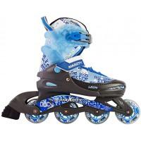 Роликовые коньки детские раздвижные MAXCITY Leon blue