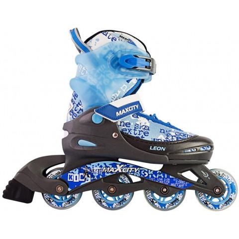 Роликовые коньки детские (раздвижные) MAXCITY Leon blue