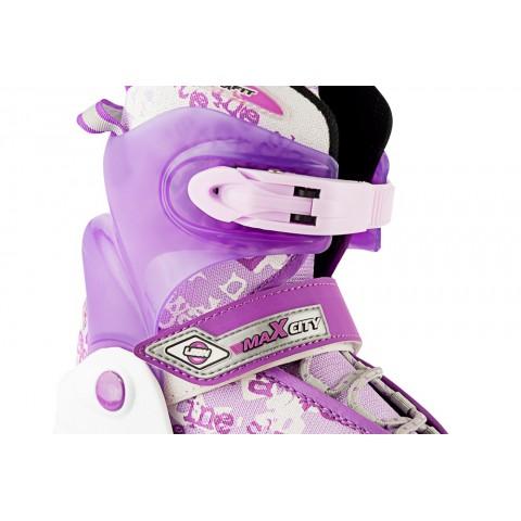 Роликовые коньки детские (раздвижные) MAXCITY Leon violet
