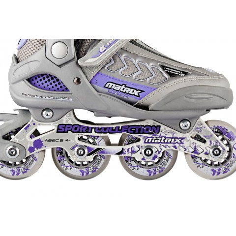 Роликовые коньки детские раздвижные СК Matrix Delux violet