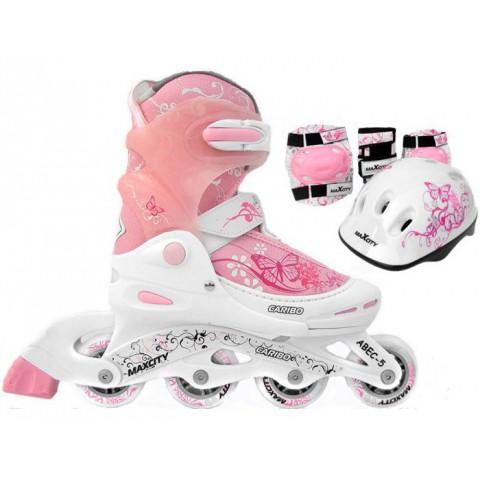Роликовые коньки детские (раздвижные) MAXCITY Caribo combo girl