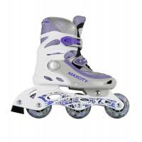 Роликовые коньки детские раздвижные MAXCITY Vista violet