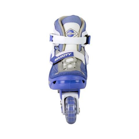 Роликовые коньки детские раздвижные MAXCITY Winner light blue