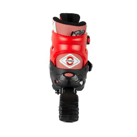 Роликовые коньки детские раздвижные MAXCITY Symbol red