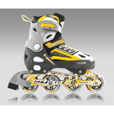 Роликовые коньки детские (раздвижные) MAXCITY Punto yellow
