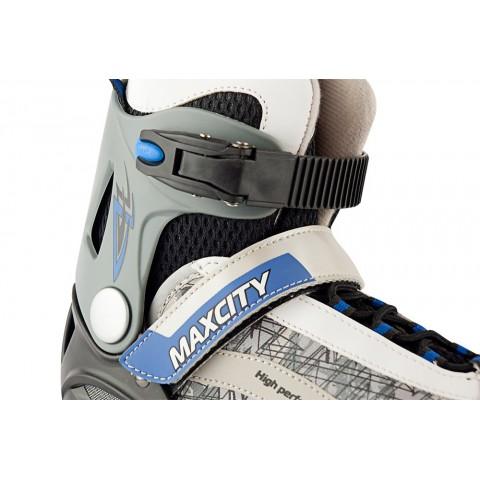 Роликовые коньки детские (раздвижные) MAXCITY  Pyrus blue