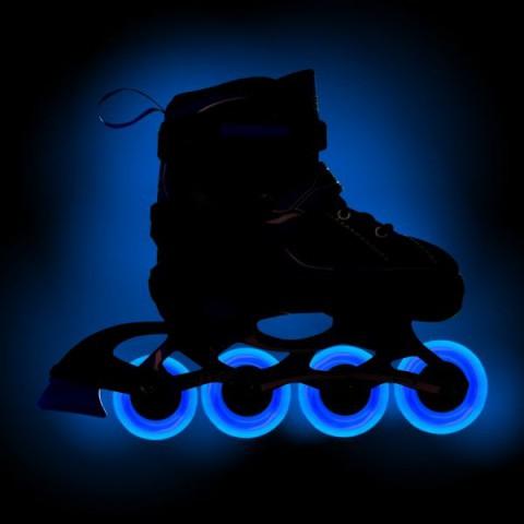Роликовые коньки раздвижные RGX Fantom Blue с LED подсветкой колес