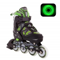 Роликовые коньки раздвижные RGX Mobilis Green