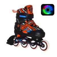 Роликовые коньки раздвижные RGX Racing Orange LED
