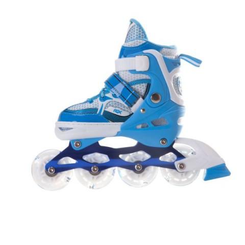 Роликовые коньки раздвижные RGX Sonic Blue LED подсветка колес