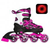 Роликовые коньки X-Comet Pink LED подсветка колес