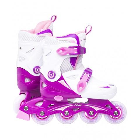 Роликовые коньки детские раздвижные Ridex Cricket Purple