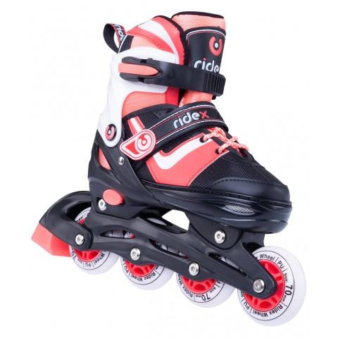 Роликовые коньки детские раздвижные Ridex Joker Coral