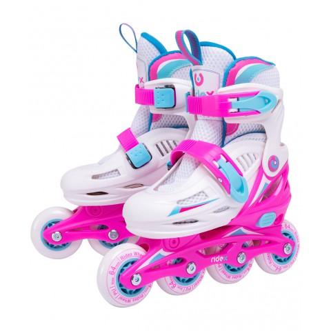 Роликовые коньки детские раздвижные Ridex Cricket Pink