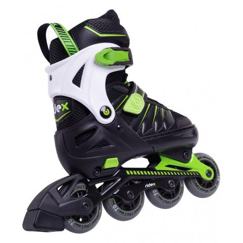 Роликовые коньки детские раздвижные Ridex Eagle Green