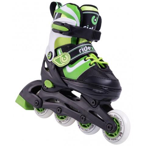 Роликовые коньки детские раздвижные Ridex Joker Green