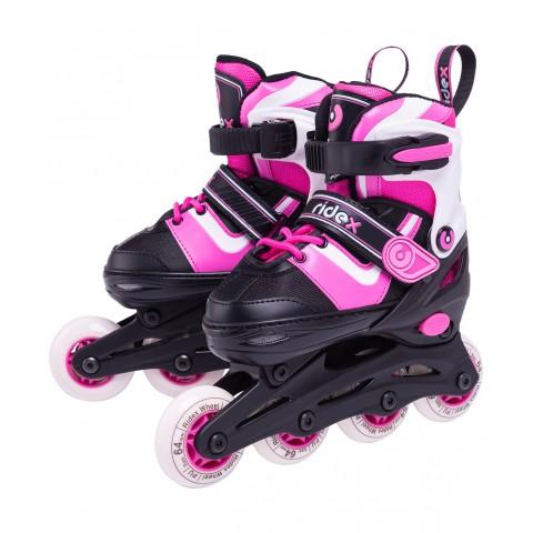 Роликовые коньки детские раздвижные Ridex Joker Pink