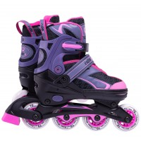 Роликовые коньки детские раздвижные Ridex Lunatic Pink