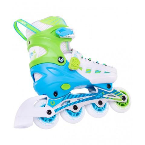 Роликовые коньки детские раздвижные Ridex Twist Green