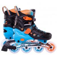 Роликовые коньки детские раздвижные RidexTwist Orange