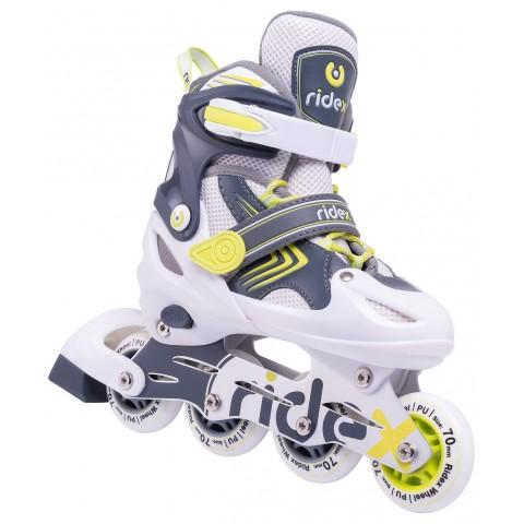 Роликовые коньки детские раздвижные Ridex Swift Lime