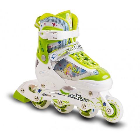 Роликовые коньки детские (раздвижные) MAXCITY Rio Green