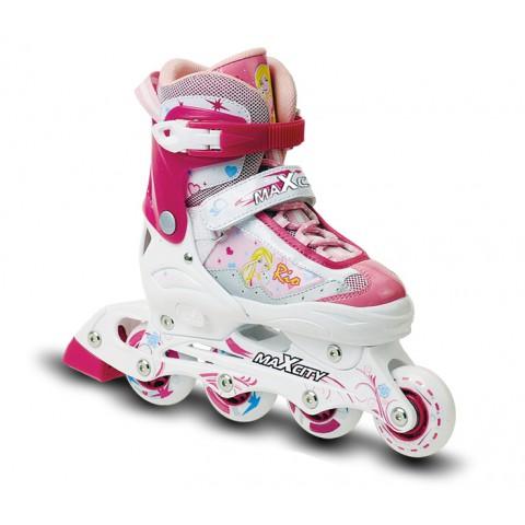 Роликовые коньки детские (раздвижные) MAXCITY Rio pink