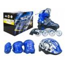 Роликовые коньки раздвижные MaxCity Volt Combo blue