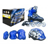 Набор роликовых коньков с защитой MaxCity Volt Combo blue